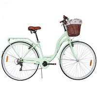 Női kerékpár 28-as méret, 6 sebesség, Menta szín