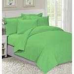 Спално бельо Decona, 100% памук Ранфорс, 1.5 персона, 4 части, Зелен