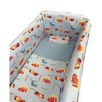 Maxi babaágy oldalvédő rögzíthető szett 140x70 cm Deseda Cars