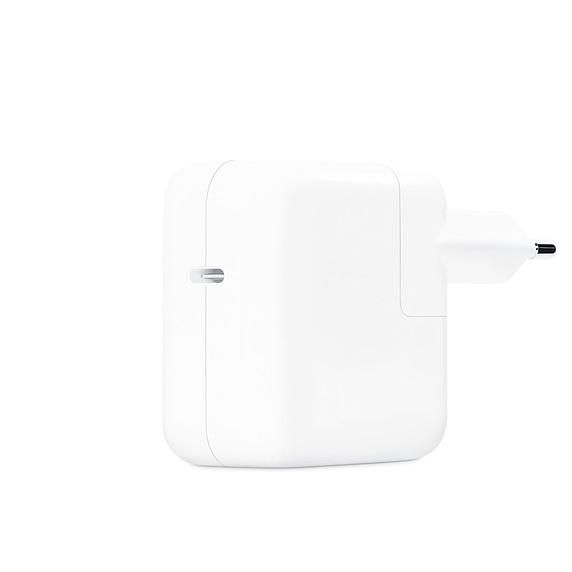 Fotografie Incarcator laptop Apple pentru Macbook, USB Type C, 30W, White