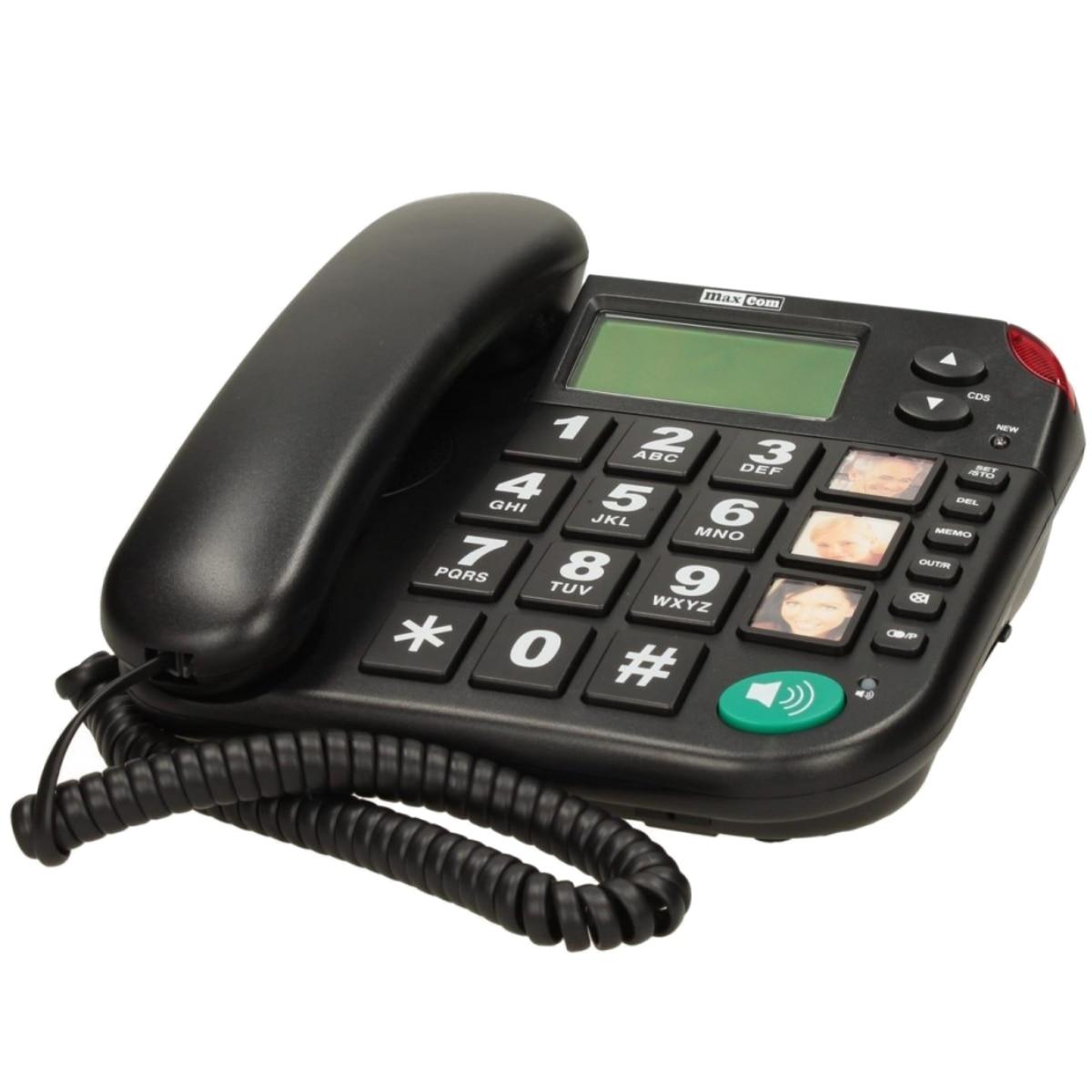 Fotografie Telefon fix cu fir MaxCom KXT480, Black