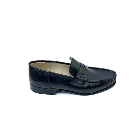 Pantofi Scarpi 100, Negri, 46 EU, Piele naturala