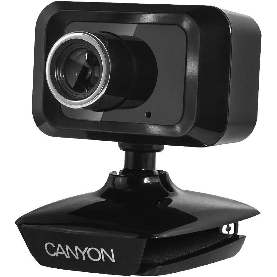 Fotografie Web camera Canyon CNE-CWC1, 1.3 Megapixeli, USB2.0, Negru