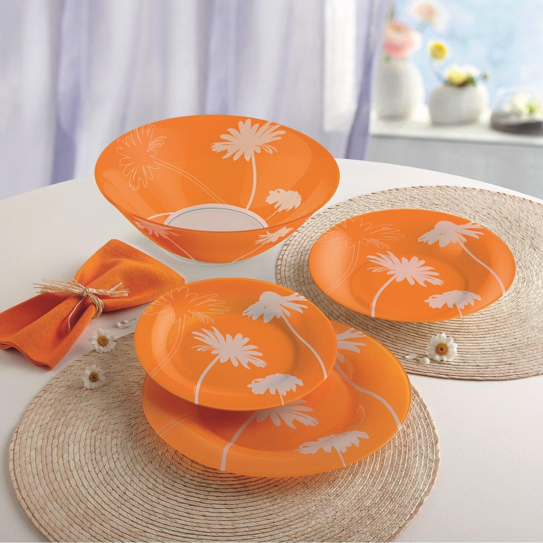 Fotografie Serviciu de masa 19 piese Luminarc Thais Orange