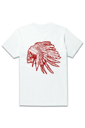 Мъжка тениска NITOS DESIGN, Indian, Бяла