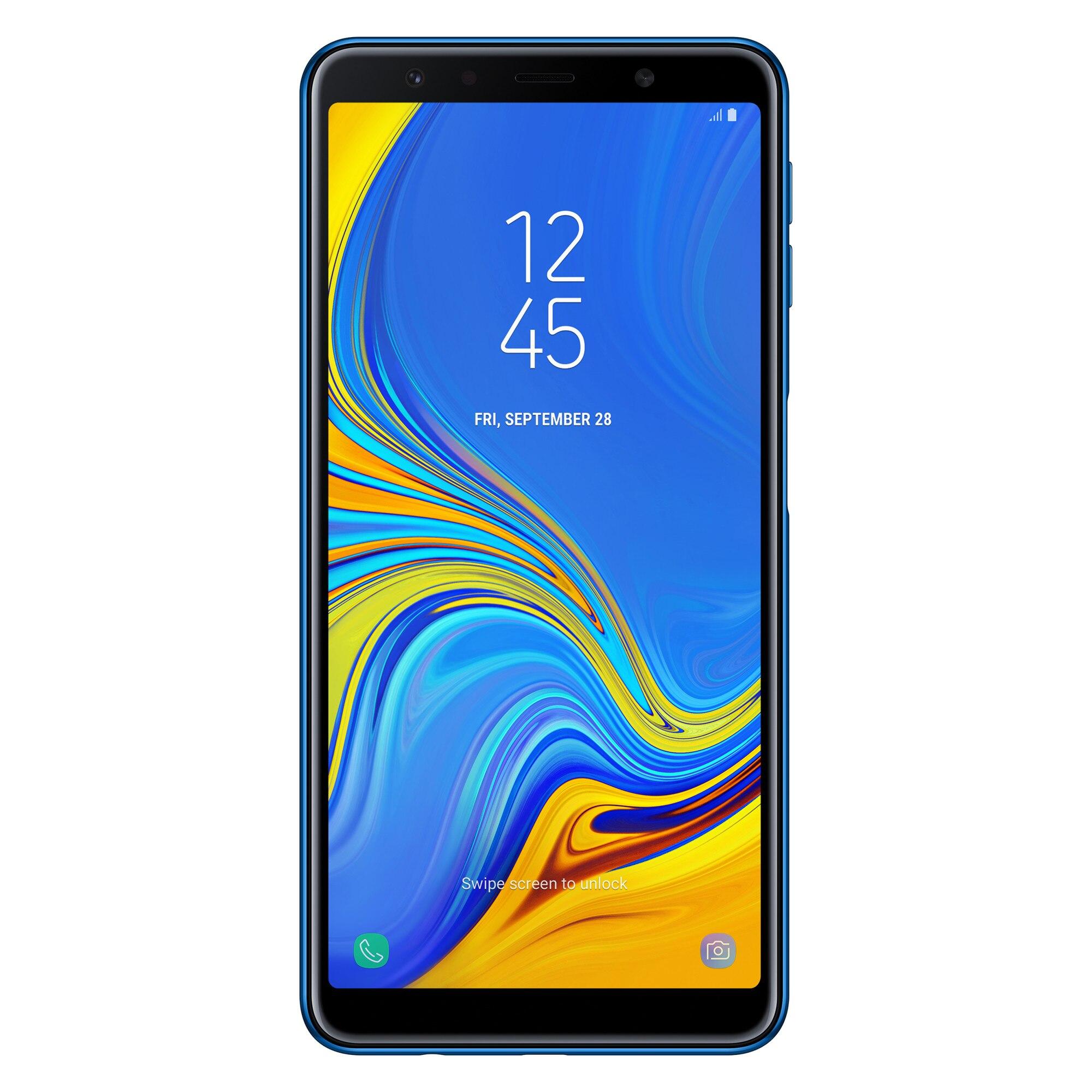 Fotografie Telefon mobil Samsung Galaxy A7 (2018), Dual Sim, 64GB, 4G, Blue