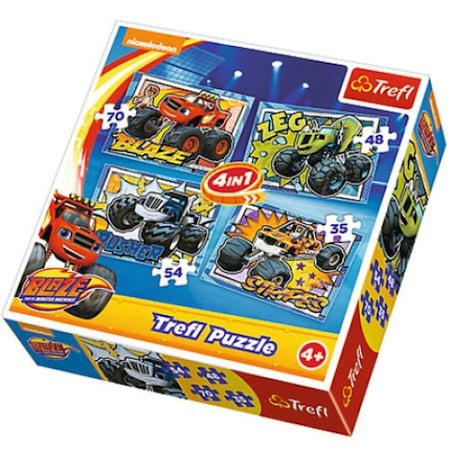 Puzzle Trefl Blaze and the Monster Machines 4 in 1