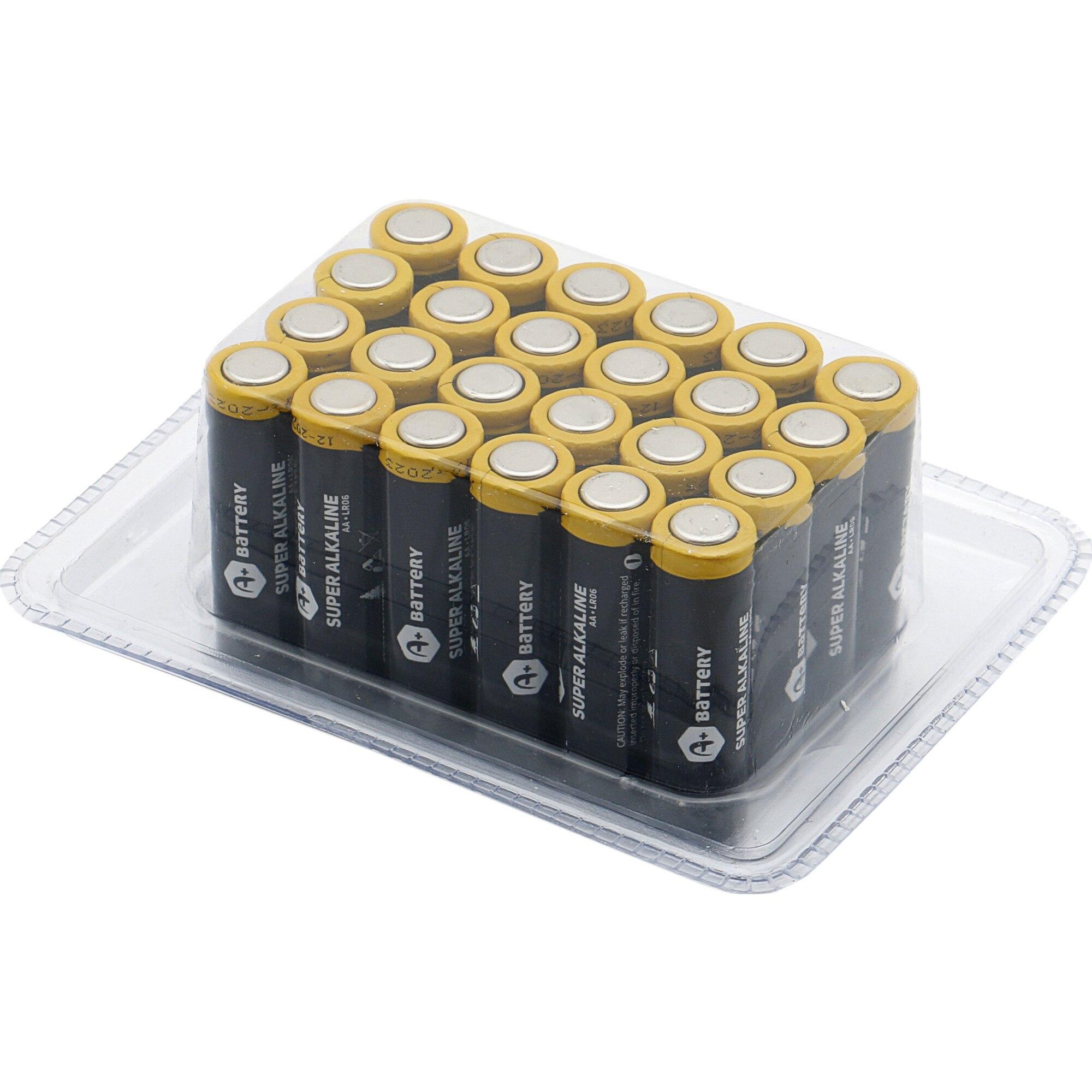 Fotografie Baterii alcaline A+, LR6 AA, 24 buc