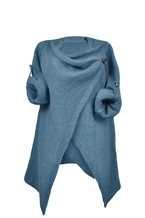 Bluza dama Vicabo, cu nasturi, albastra, marimea S/M