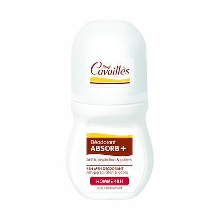 Deodorant roll-on reglator Roge Cavailles Absorb+ pentru barbati, 50 ml