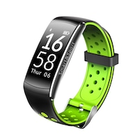 Fitness karkötő bluetooth, android, iOS, 0,96 hüvelykes OLED, IP68, SoVogue, zöld-fekete