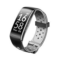 Fitness karkötő bluetooth, android, iOS, 0,96 hüvelykes OLED, IP68, SoVogue, Szürke-Fekete