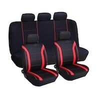 Anma univerzális üléshuzat készlet, 9 darabos, Fekete-piros