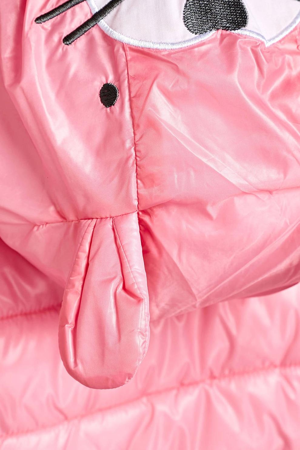 NEXT, Steppelt télikabát nyuszis dizájnnal, Rózsaszín, 3 6M