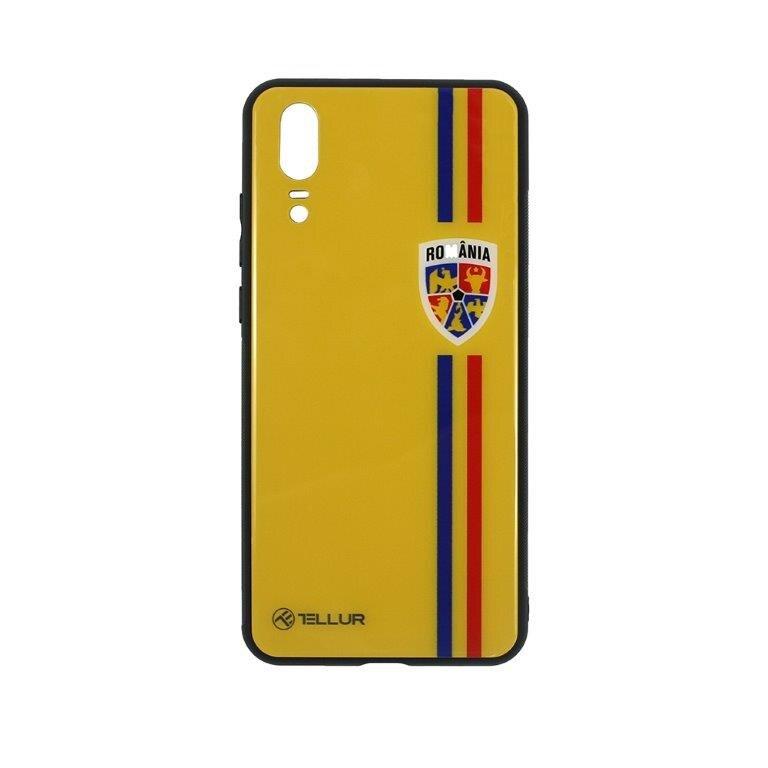 Fotografie Husa de protectie Tellur FRF Glass Print Tricolor pentru Huawei P20