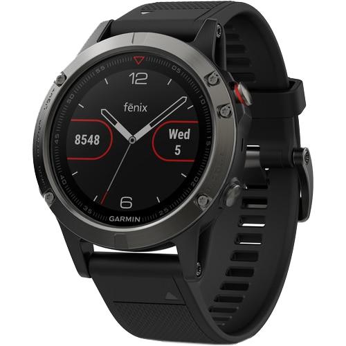 Fotografie Ceas smartwatch Garmin Fenix 5 Sapphire, HR, GPS, Black Sapphire