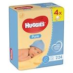 Мокри кърпички Huggies Pure Quatro, 4 пакета x 56, 224 броя
