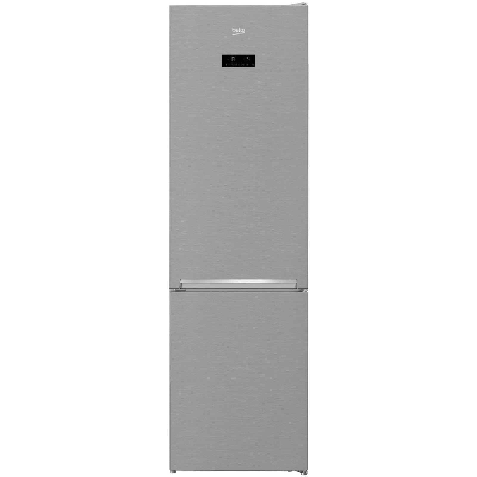 Fotografie Combina frigorifica BEKO RCNA406E30ZXB, 362 l, NeoFrost Dual Cooling, Touch control, Raft sticle, H 203 cm, Clasa A++, Argintiu