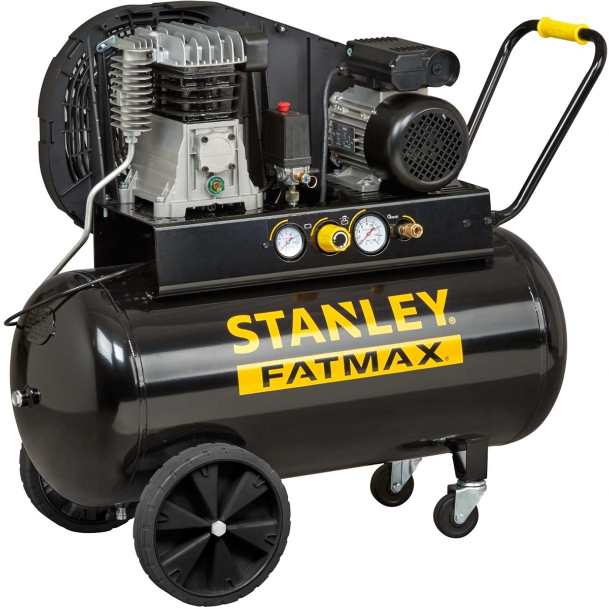 Fotografie Compresor de aer profesional Stanley FatMax, 100l, 3CP, 10 bar, 330l/m, transmisie curea