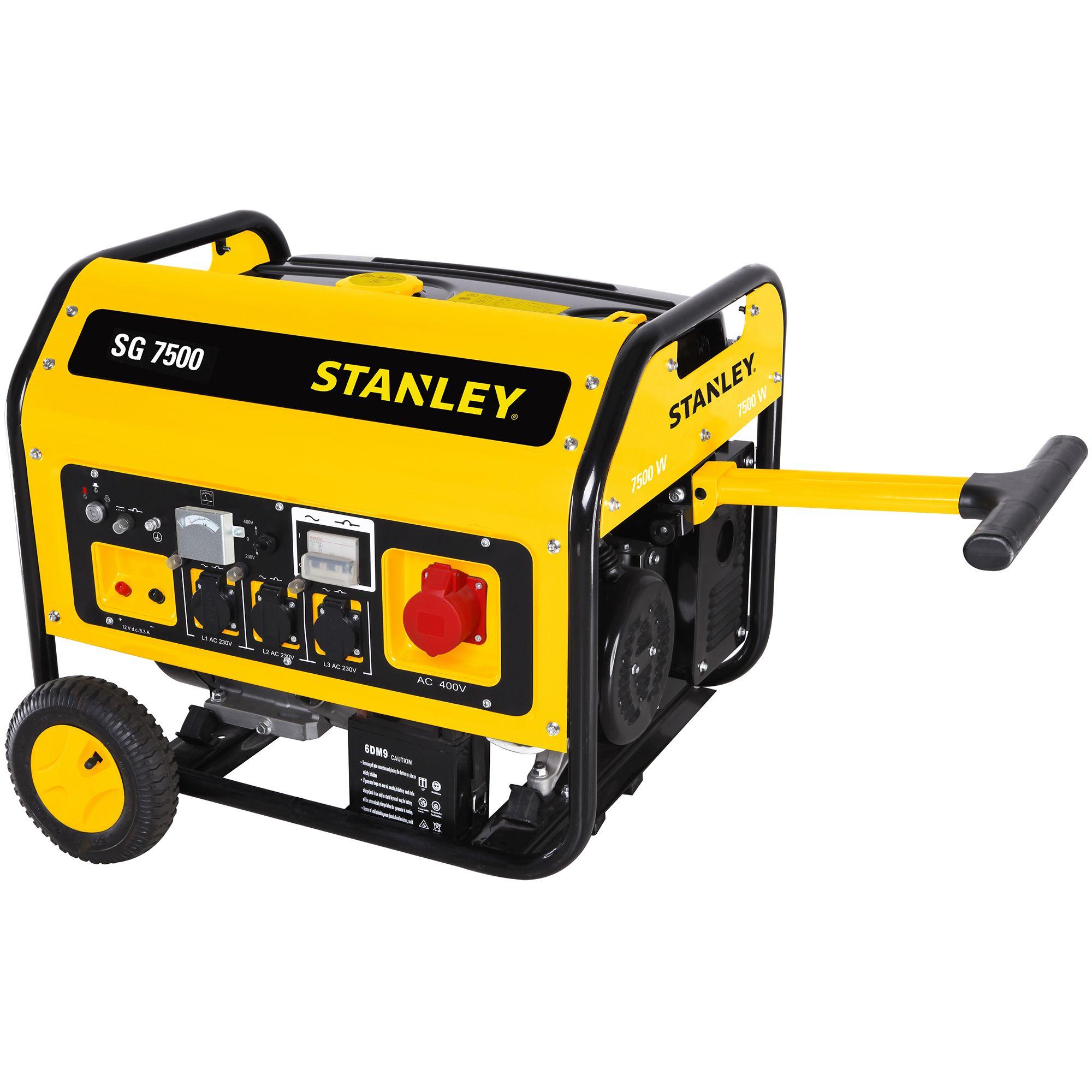Fotografie Generator curent electric Stanley SG7500B, 7500 W, AVR, 230 V, 4 timpi, 25 l, benzina, autonomie 6.3 h