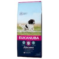 Суха храна за кучета Eukanuba, Adult Medium, С пилешко, 12 кг + 2 кг