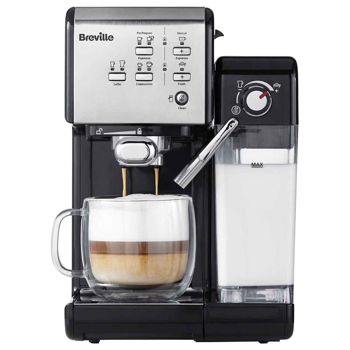 Fotografie Espressor manual Breville VCF108X Prima Latte II, 19 bar, 1.5 L, recipient lapte 0.6 L, Argintiu