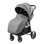 Детска количка Kinderkraft Grande, От раждането, Сива