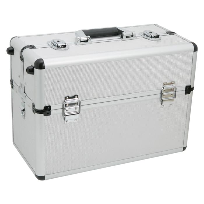 Fotografie Geanta profesionala pentru scule Handy, cu catarama metalica, multiple compartimente,inchidere cu cheie, 45 x 22 x 32 cm