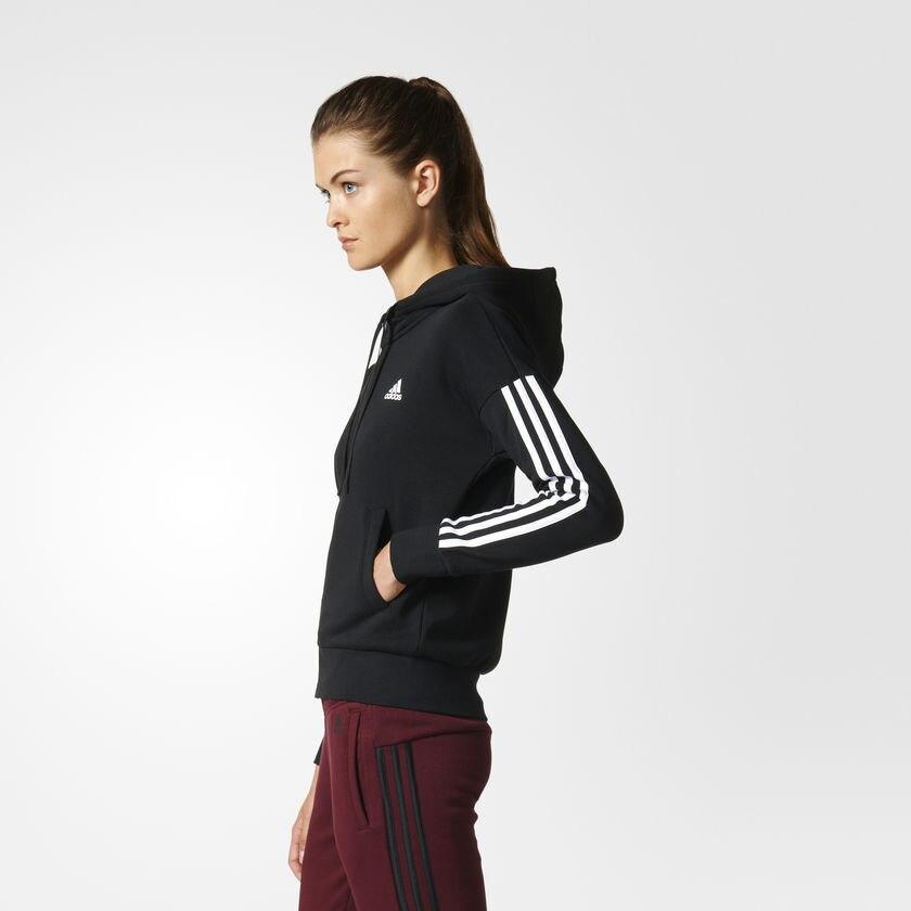 llenar Inaccesible Malgastar  Hanorac femei adidas Performance Essentials 3 Stripes Full Zip Hoodie S97059,  L INTL, Negru - eMAG.ro