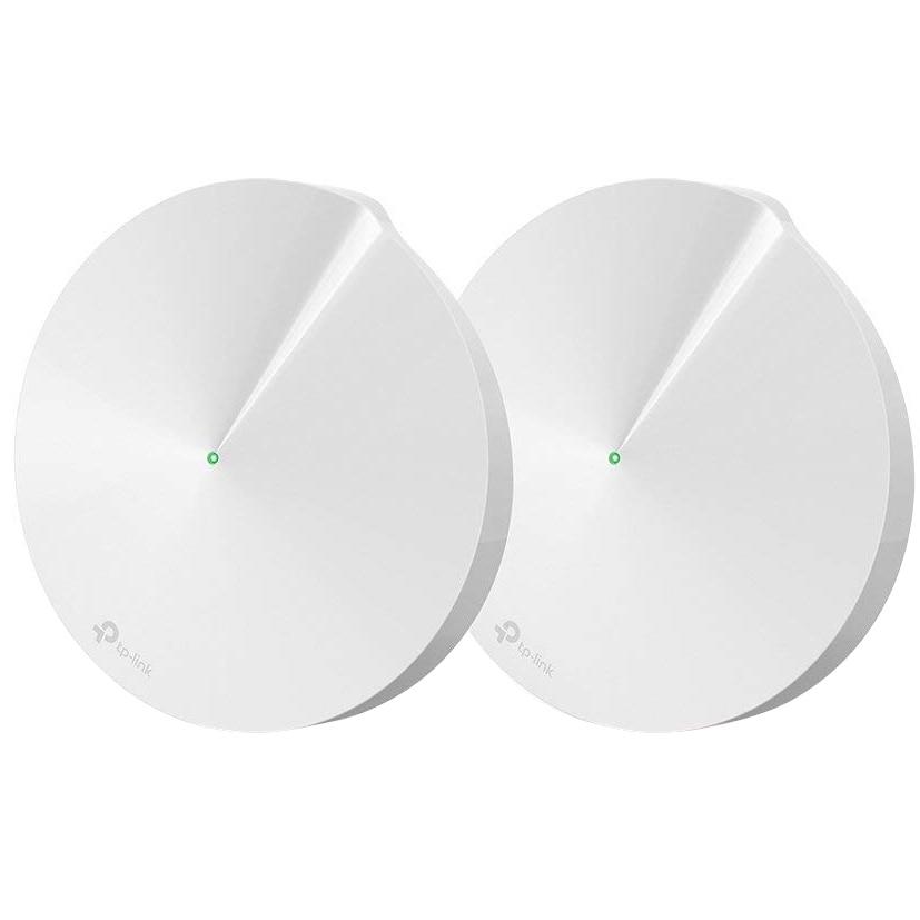Fotografie Sistem Wi-Fi Mesh TP-Link Deco M5 (2-pack) AC1300 Gigabit cu acoperire completa pentru casa
