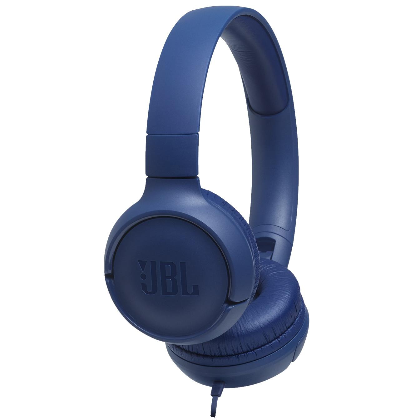 Fotografie Casti audio On-ear JBL Tune 500, Pure Bass Sound, Hands-free Call, Albastru