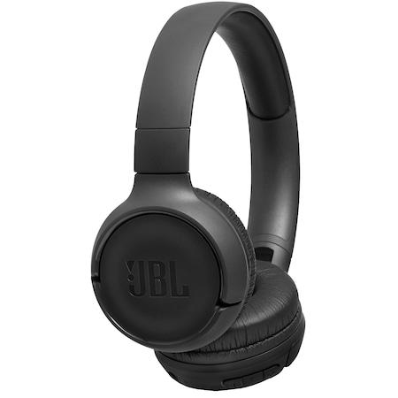Casti audio On-ear JBL Tune 500, Wireless, Bluetooth, Pure Bass Sound, Hands-free Call, 16H, Negru
