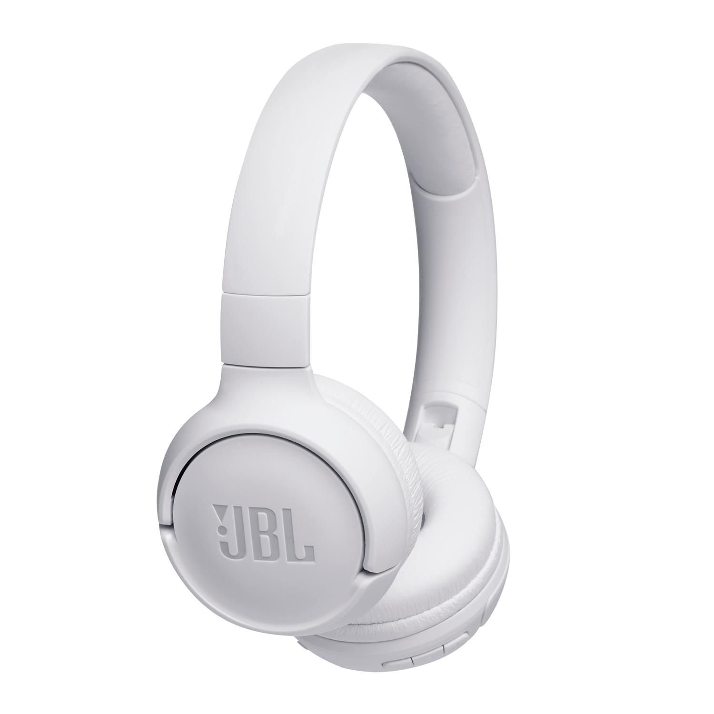 Fotografie Casti On Ear JBL Tune 500, Wireless, Bluetooth, Autonomie 16 ore, Alb