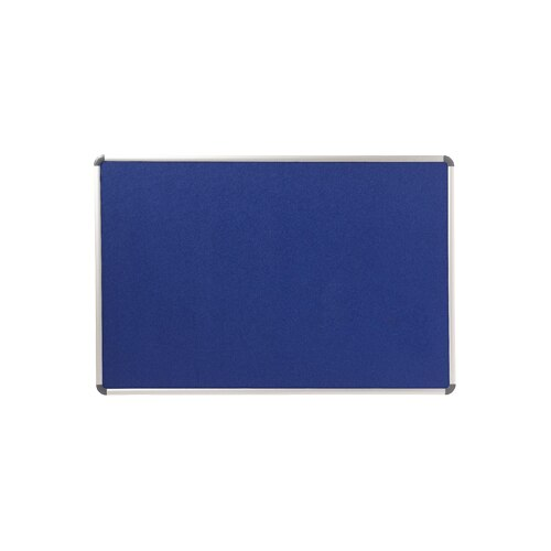 Fotografie Panou EVOffice din material textil albastru (fetru) 2 fete cu rama din aluminiu 90*120 cm