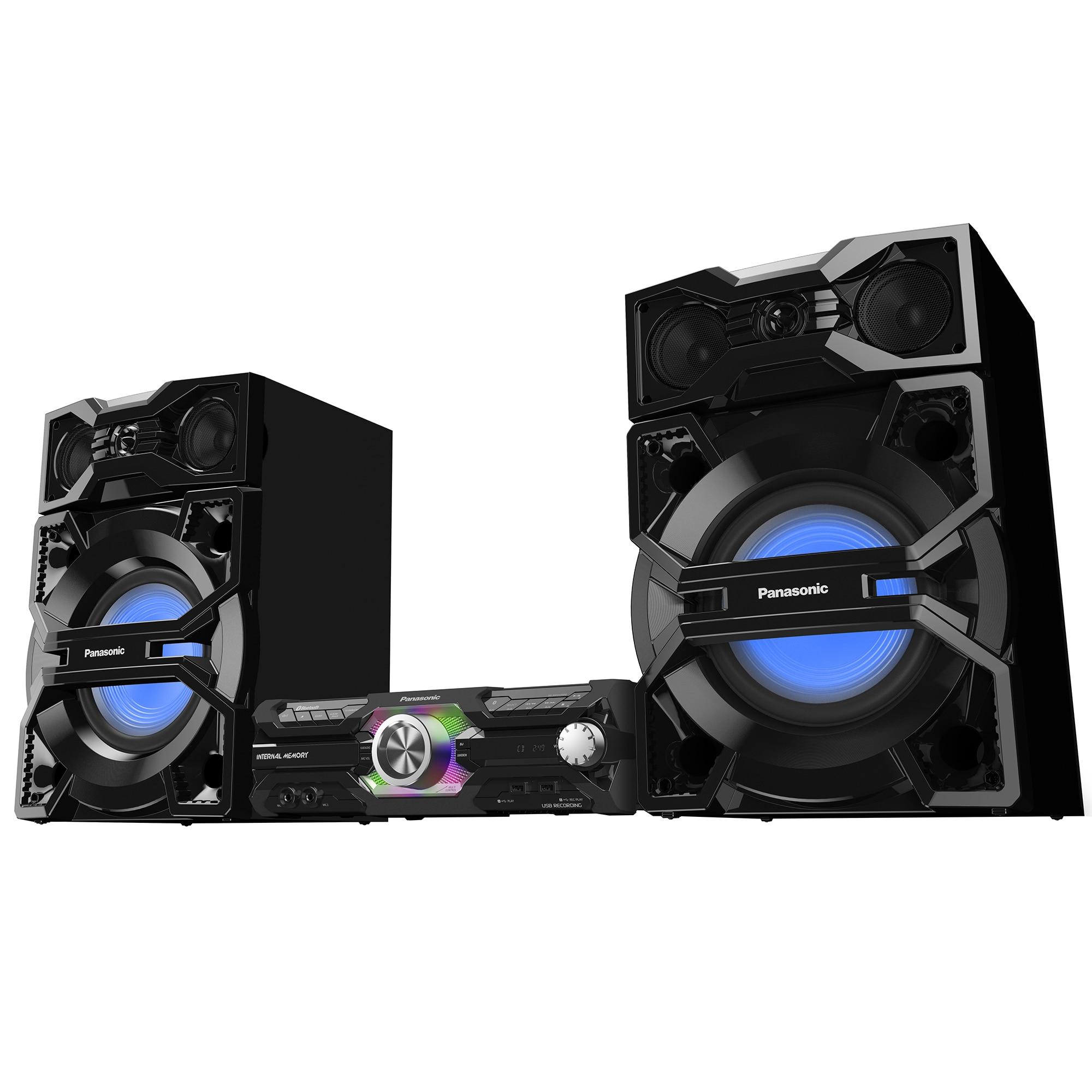 Fotografie Sistem audio High Power PANASONIC SC-MAX3500EK, 2400W, Bluetooth, FM, negru