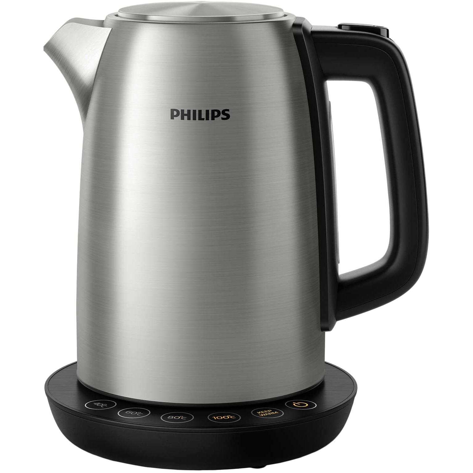 Fotografie Fierbator Philips HD9359/90, 2200 W, 1.7 L, control temperatura, Negru