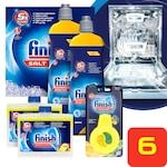 Finish additív csomag a mosogatógép karbantartásához: regeneráló só (4 kg) + gépi öblítőszer (2 x 800 ml) + mosogatógép-tisztító (2 x 250 ml) + mosogatógép illatosító (4 ml)