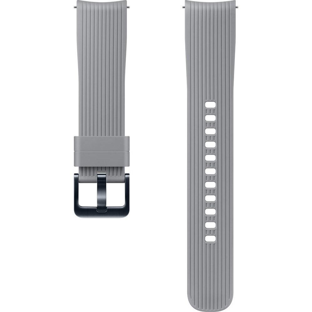 Fotografie Curea ceas smartwatch Samsung Galaxy Watch R810, Silicon, Gray