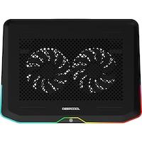 "Cooler laptop DeepCool N80, pana la 17.3"", Iluminare RGB, Negru"