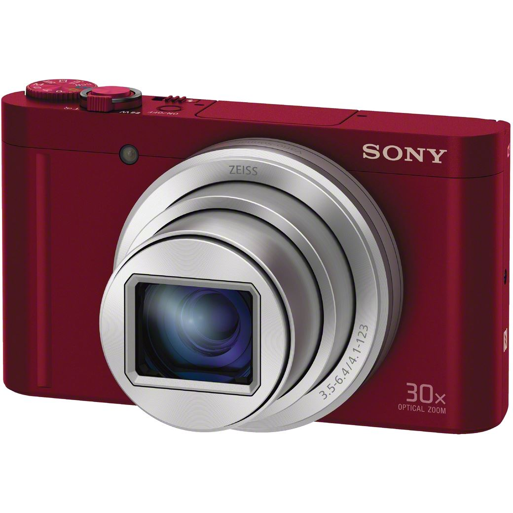 Fotografie Aparat foto digital Sony Cyber-Shot DSC-WX500, 18.2MP, High zoom, Wi-Fi, NFC, Red