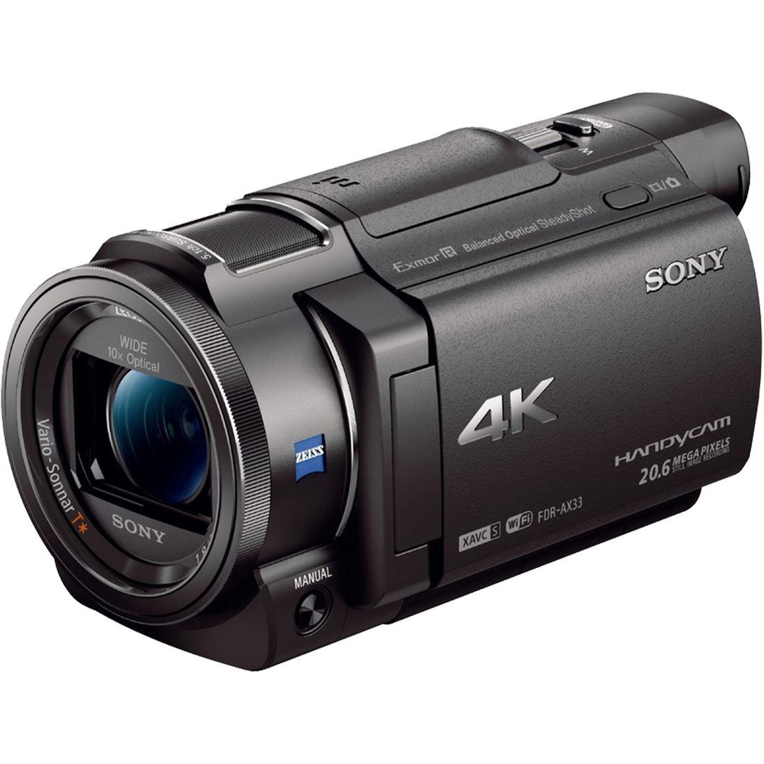 Fotografie Camera video Sony FDR-AX33, Ultra HD 4K, Negru