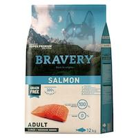 Суха храна за кучета Bravery Medium/Large, Сьомга, 12 кг