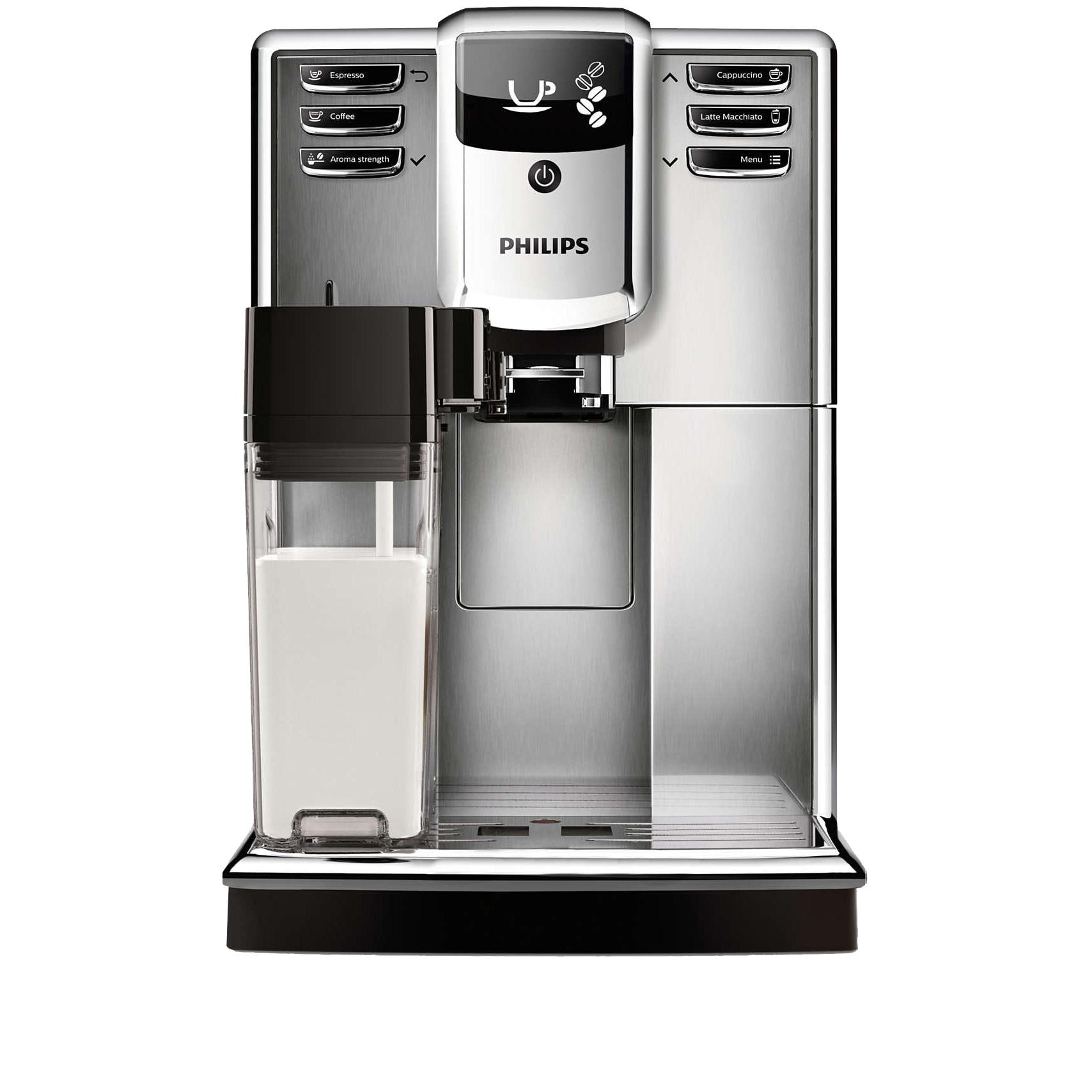 Fotografie Espressor automat Philips EP5365/10, Seria 5000, Carafă pentru lapte integrată, 5 băuturi, 5 setari intensitate, 5 trepte macinare, flitru Aqua Clean, rasnita ceramica, Otel