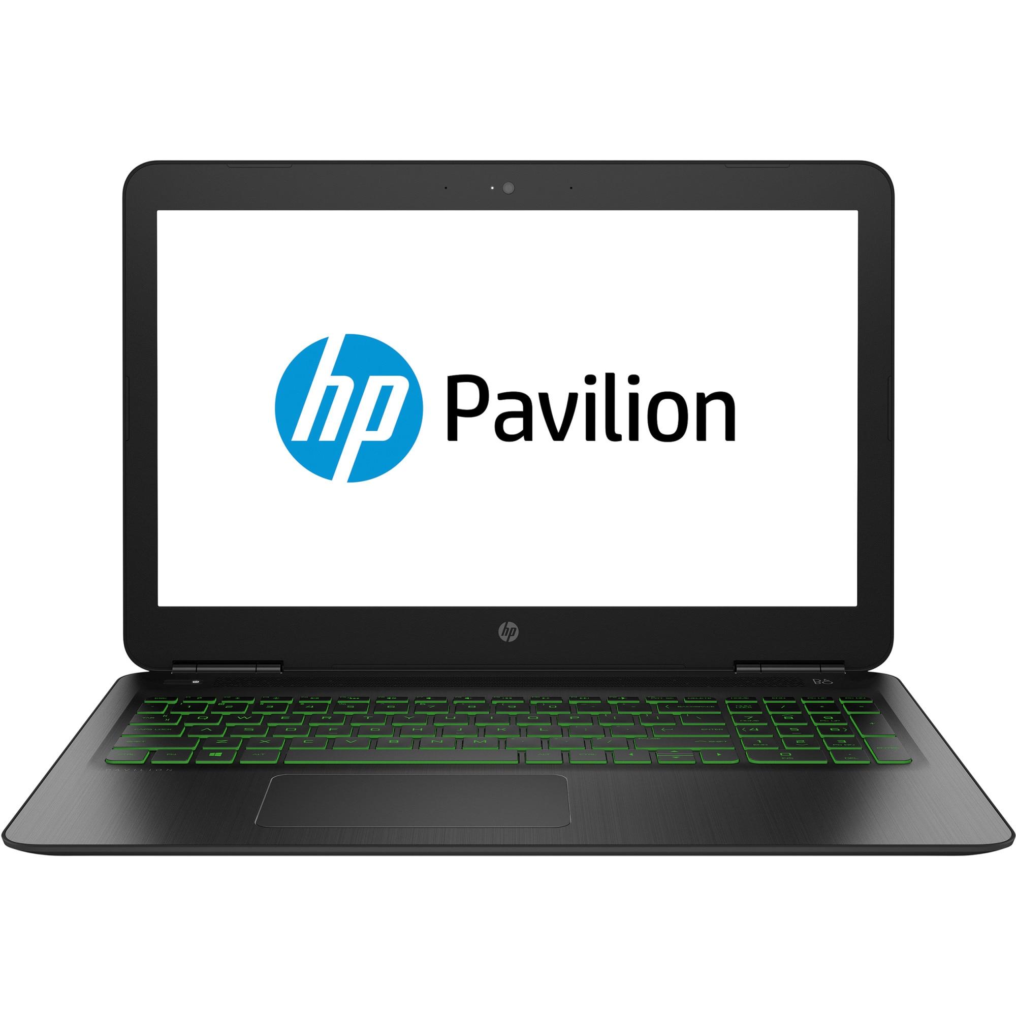 "Fotografie Laptop Gaming HP Pavilion 15-bc408nq cu procesor Intel® Core™ i7-8750H pana la 4.10 GHz, Coffee Lake, 15.6"", Full HD, 8GB, 1TB, NVIDIA GeForce GTX 1050 4GB, Free DOS, Shadow Black"