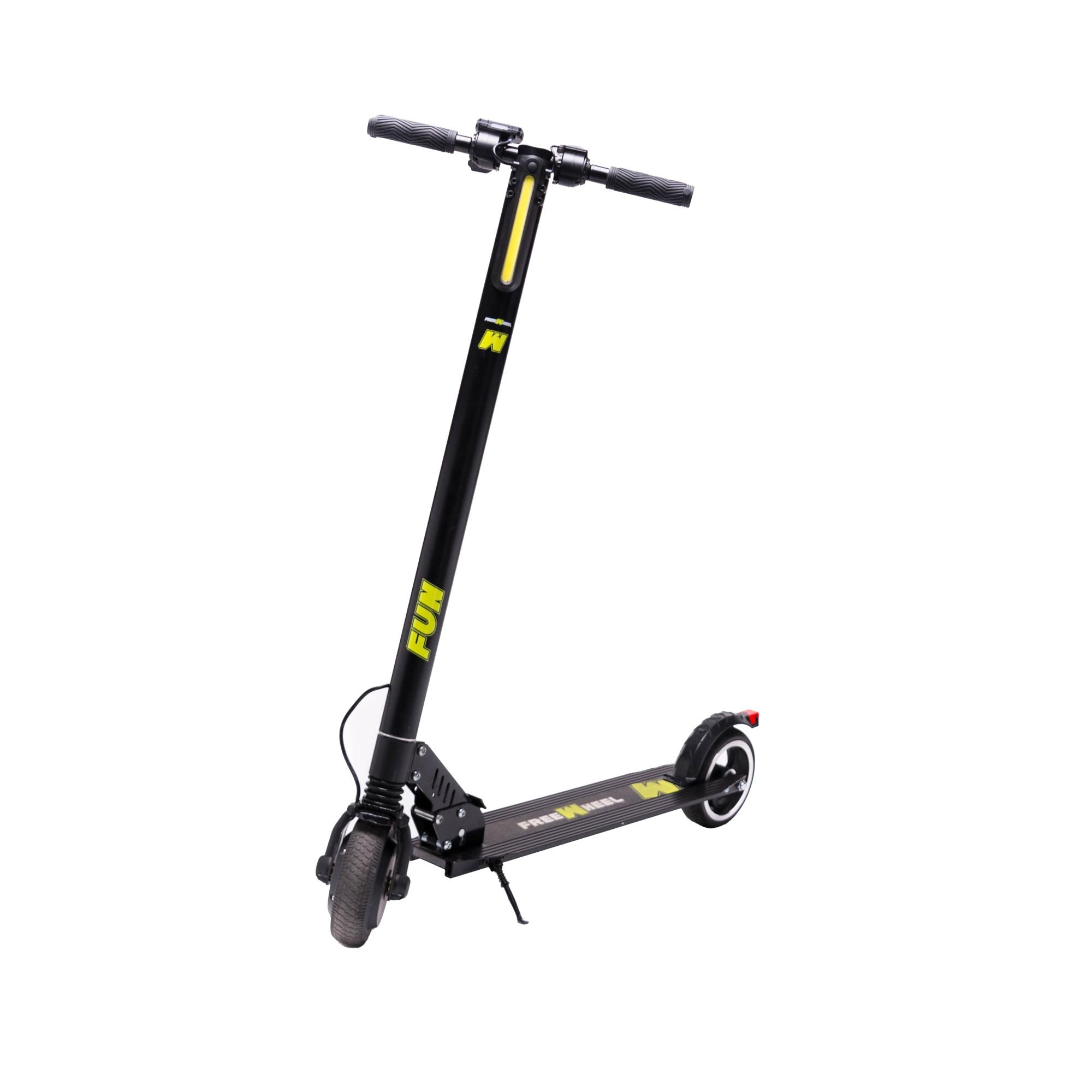 "Fotografie Trotineta electrica Freewheel Rider Fun, viteza 22 Km/h, autonomie 12 KM, motor 350W, roti 6.5"", negru"