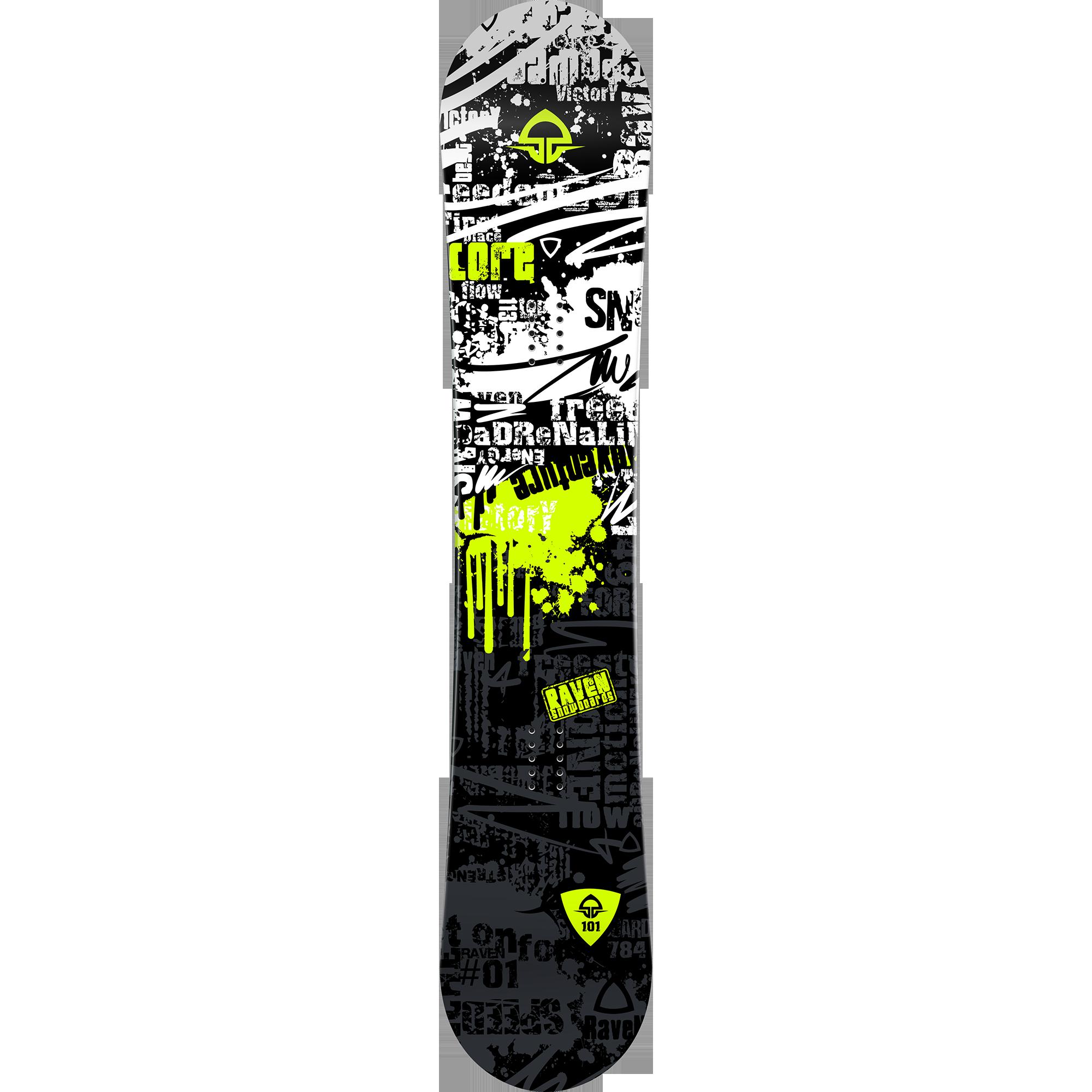 Fotografie Snowboard Raven Core Junior 2019 + Legaturi Salomon Team (34-40), 128cm, Black/White