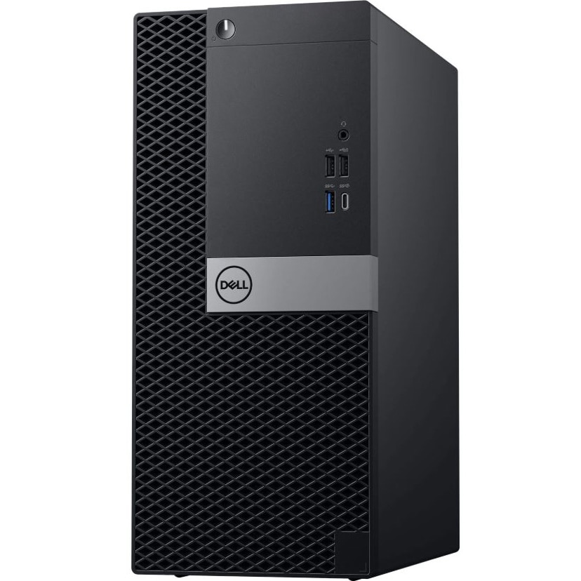 Fotografie Sistem Desktop Dell OptiPlex 5060 MT cu procesor Intel(r) Core(tm) i5-8500 pana la 4.10 GHz, Coffee Lake, 16GB, 256GB SSD, Intel(r) UHD Graphics 630, Microsoft Windows 10 Pro, Black