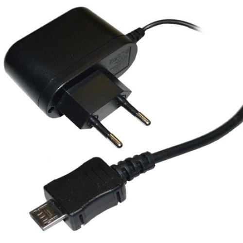 Hálózati töltő (microUSB, 5V 1000mA) FEKETE