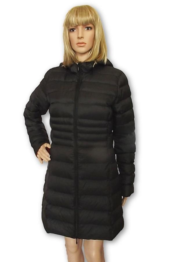 Steppelt női kapucnis hosszított kabát béléssel,meggypiros