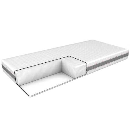 Saltea Moonway Silver Basic, 160X200 cm, husa detasabila si lavabila cu fermoar, 20 cm